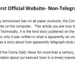 Coma Launches First Official Website- Non-Telegraph Version