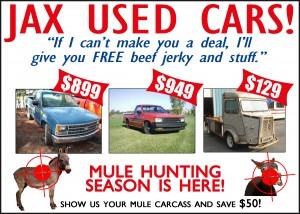 Jax Used Cars Ad