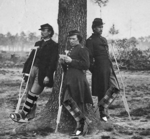Members of the 51st Coma Paratroopers stand beneath a tree in Coma  This photo was taken in June of 1862.