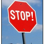 Punctuated Stop Sign Program Cancelled