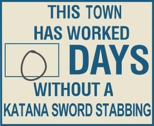 KATANA SWORD SIGN