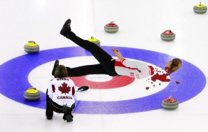 Injuries in the Winter Olympics, like the recent decapitation that occured during the Curling event (above), has lead the town of Coma to instigate a ban on the popular sporting event