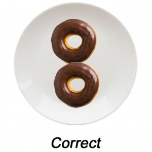 correct figure 8 donuts