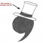 1887- The Fancy Comma Invented in Coma