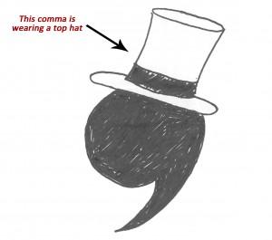 fancy comma
