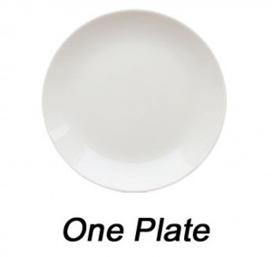 one plate