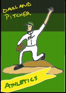 bbcard oakland pitcher