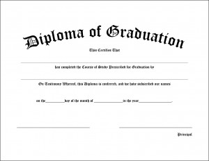 You can graduate from every important event in your life. All you need is a blank diploma and a life event.