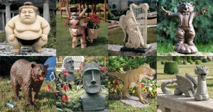 Here are some examples of lawn ornaments that I would be interested in. They seem to have more meaning than my current ornaments.