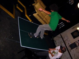 If you can't figure out how to make it work we've used the table as a skate ramp.