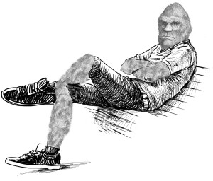 bigfoot on bench