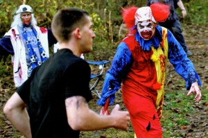 In a recent clinical study that took place in Sweden it was determined that people are 98% more afraid of Zombies when the Zombies are also clowns.
