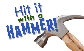 hit it with a hammer front page
