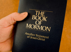 This is the Book of Mormon which was stolen from the hands of Mormon missionaries when the man who opened the door was angry because he was expecting Papa John's Pizza.