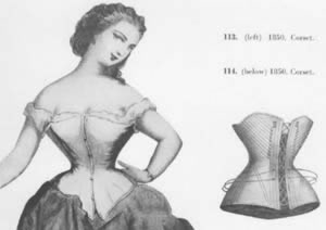 Thanks to Sharon C. Anthony of Coma women were no longer bound to their corset but rather bound to a toilet or an outhouse but only for a finite amount of time.