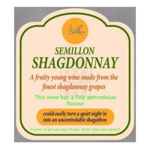 "The Semillion Shagdonnay was a 2011 winner created by Jax Owen owner of Jax Used Cars and Jax Organic Bikes. The vintage was pulled from shelves once it was found that it was falsely advertising a ""nightly shag-a-thon""."