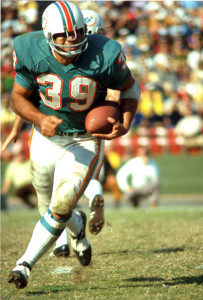 I thought I would get a chance to have a splash fight with hall-of-famer and former Dolphin Larry Csonka. But I didn't because the stupid thing didn't include any Miami Dolphins. Just real dolphins.