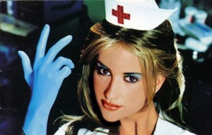 This nurse is not naughty, She's actually works for Dr. Jimmy's office. She does not dance.
