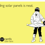 Failed Solar Panels to Serve as Picnic Tables