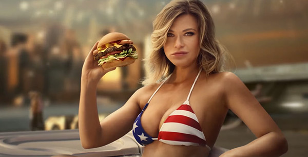This woman really ate this Arby's burger at the Arby's in Topeka kansas. This is not a costume.