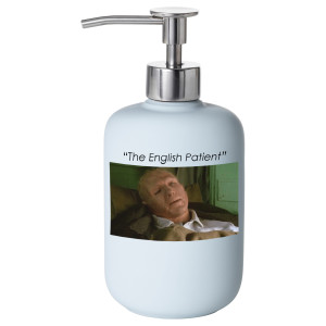 english patient soap dispenser